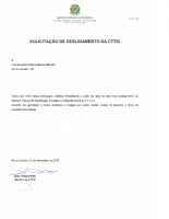 Carta de Desligamento – Braz Neto